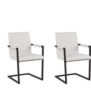 Set de 2 scaune Buford, bej/negru, 52 x 54 x 87 cm