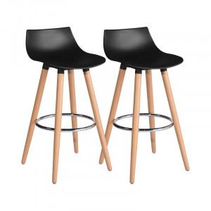 Set de 2 scaune de bar Daisy, negru, H 65 cm