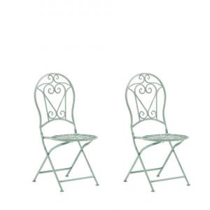 Set de 2 scaune de gradina Trento, verde, 42 x 57 x 95 cm