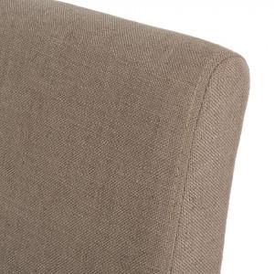 Set de 2 scaune tapițate Nella, bej inchis