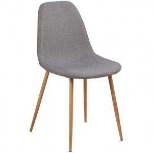Set de 2 scaune tapițate Wilma, gri deschis