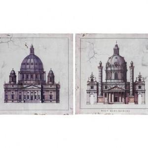Set de 2 tablouri Church