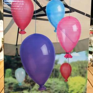 Set de 3 baloane transparente, 1 mat, 1 sidefat si 1 perlat, Premier