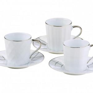 Set de 3 căni de cafea Lux, 100ml