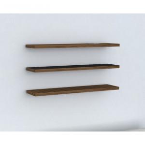 Set de 3 rafturi Bezalel, maro, 1,8 x 60 x 14,5 cm