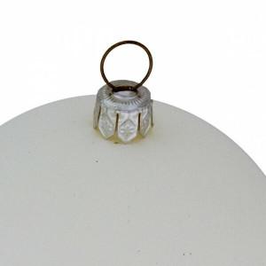 Set de 6 globuri, Albe, 8 x 8 x 8 cm