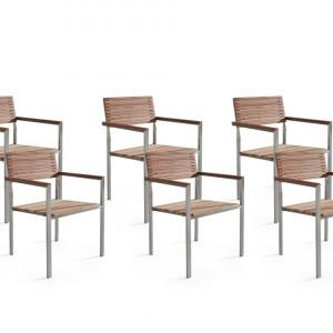 Set de 6 scaune de grădină din lemn de tec VIAREGGIO
