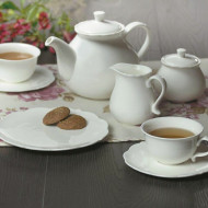 Set de cafea Council, alb, 10,6 x 50,5 x 16,3 cm