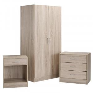 Set de dormitor Haddam 3 Piese - PAL