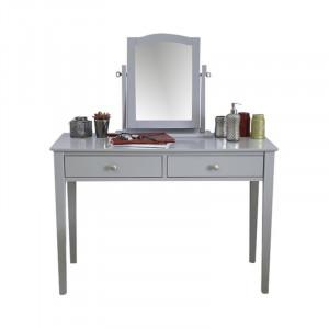 Set de masă de toaletă Arundel cu oglindă, gri, 128cm H x 109cm W x 47cm D