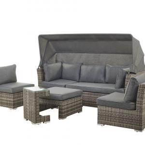Set lounge Corte, gri, 230 x 152 x 153 cm