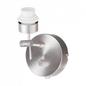 Suport aplica de perete Gramineus metal, argintiu, 1 bec, 230 V