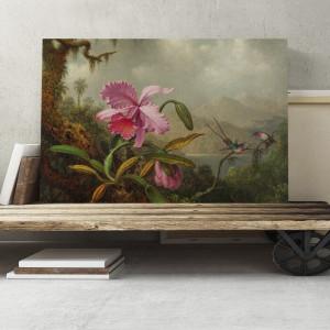 "Tablou ""Floare roz"", 70 x 100 cm"