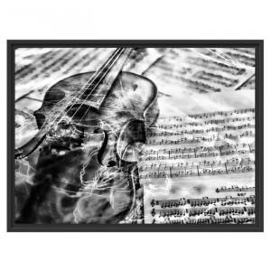 "Tablou ""Vioara"", gri, 60 x 80 cm"