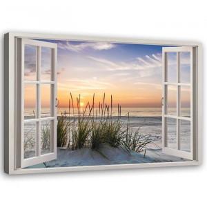 """Tablou """"Window to the Beach"""", 80 x 120 x 3 cm"""