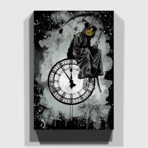 Tablou Grin Reaper, negru/gri, 76 x 50 x 3 cm