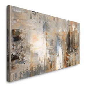 Tablou, panza/lemn, 50 x 120 x 3 cm