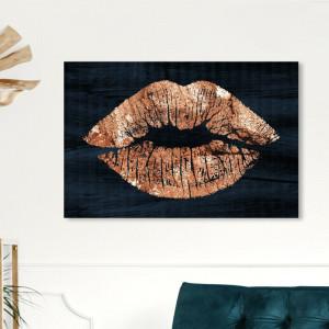 Tablou pe pânză învelită 'Solid Kiss Copper Navy', 76,2cm H x 114,3cm W x 3,8cm D