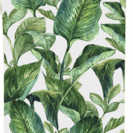 Tapet Leaves alb / verde, 250x90cm
