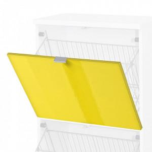 Usa de dulap Colorado MDF/aluminiu, galben lucios, 52 x 41.5 x 1.6 cm
