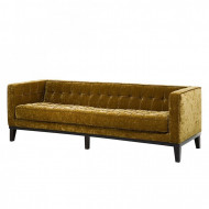 Canapea fixa 3 locuri Mirage, catifea galben auriu