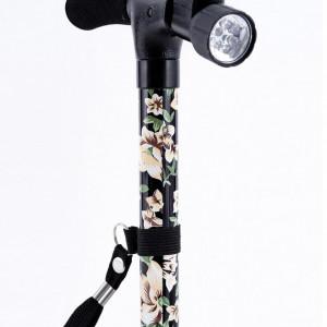 Baston magic cu lumina led, model floral