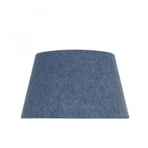 Abajur din in de 24,5 cm, albastru
