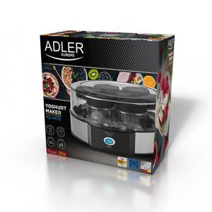 Aparat pentru preparat iaurt Adler AD 4476, 7 compartimente pentru borcane