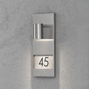 Aplica de exterior Modena, metal, argintie, 16 x 41 x 11 cm