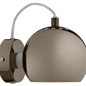 Aplica de perete Ball metal, maro, 1 bec, diametru 15 cm