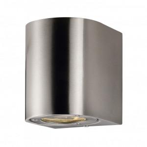 Aplica LED Canto sticla/otel inoxidabil, argintiu, 2 becuri, 230 V, 5 W