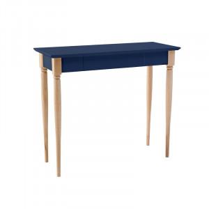Birou Graywell din lemn masiv, MDF, albastru marin, 74cm H x 85cm W x 40cm D