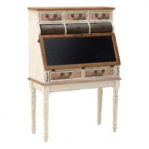 Birou secretaire Antique mesteacan/brad/fier, maro, 87 x 40 x 128,5 cm