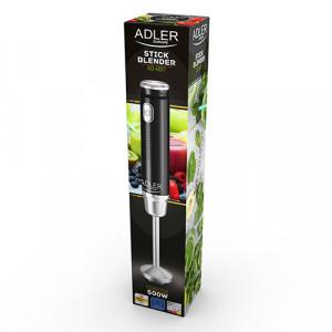 Blender Adler AD 4617 negru/argintiu, 350 W, otel inoxidabil