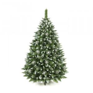 Brad de Craciun artificial, plastic, alb/verde, 250 x 140 x 140 cm