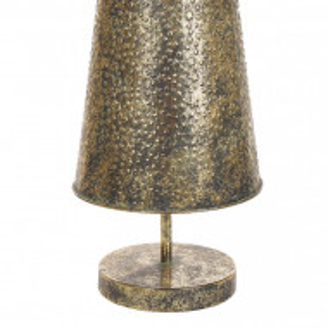 Brad de Craciun KEMI, metalic, auriu, 27 x 27 x 114 cm
