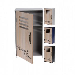 Cabinet metal KARLL cu usa de MDF 18 x 32 x 10 cm