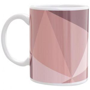 Cana decorativa Glam 6 alb/roz