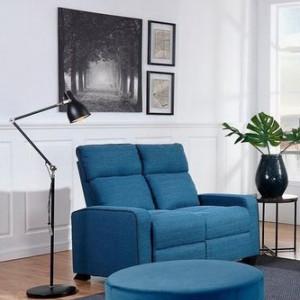 Canapea de living Levis, 2 locuri, albastru turcoaz