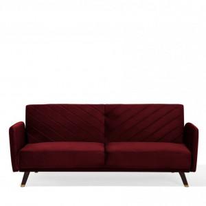 Canapea extensibila Senja, rosu, 87 x 200 x 95 cm