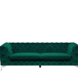 Canapea Sotra, catifea, verde, 70 x 224 x 85 cm