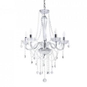 Candelabru Locone cu 5 lumini, argintiu, 185 x 55 cm