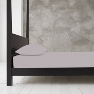 Cearsaf de pat Cha, gri, 91 x 193 cm