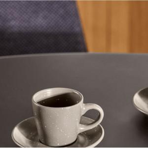 Ceasca de cafea cu farfurioara Avichai, gri inchis