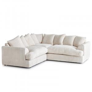 Coltar Ajo, velur, alb, 79 x 200 x 90 cm