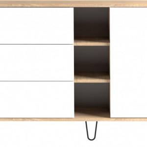 Comodă Aero din PAL, alb, 120 x 80cm