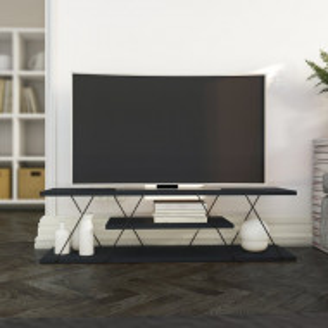 Comoda TV Canaz, MDF, gri, 120 x 33 x 30 cm