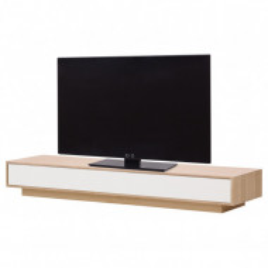 Comoda TV Danilo stejar/MDF, maro/alb, 176 x 24 x 45 cm