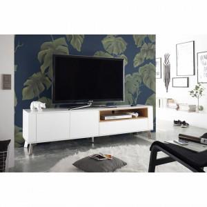 Comoda TV Palena alb mat/stejar