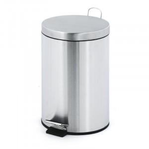 Cos de gunoi Angeles, argintiu, 40 x 24,8 x 24,8 cm